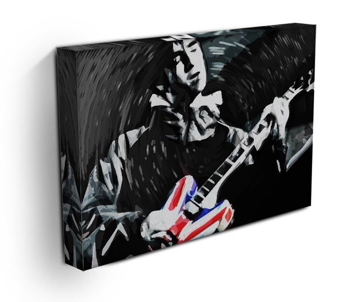 Noel Gallagher Union Jack Guitar Canvas Print or Poster - Canvas Art Rocks