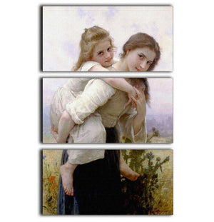 Not Too Much To Carry By Bouguereau 3 Split Panel Canvas Print - Canvas Art Rocks - 1