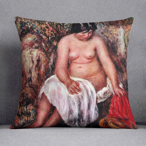 Nude with Straw by Renoir by Renoir Throw Pillow