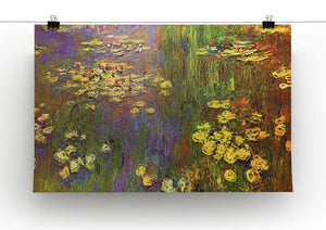 Nympheas water plantes Canvas Print & Poster - Canvas Art Rocks - 2