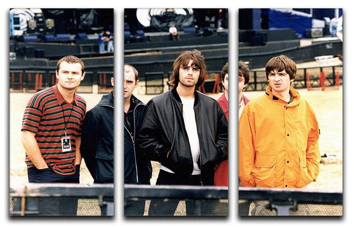 Oasis in 1996 3 Split Panel Canvas Print