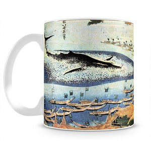 Ocean landscape and whale by Hokusai Mug - Canvas Art Rocks - 2