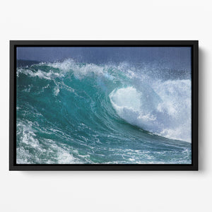 Ocean wave Floating Framed Canvas