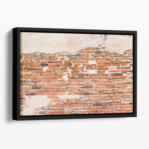 Old brick wall texture Floating Framed Canvas - Canvas Art Rocks - 1