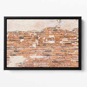 Old brick wall texture Floating Framed Canvas - Canvas Art Rocks - 2