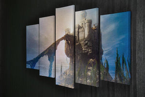 Old castle on the hill 5 Split Panel Canvas  - Canvas Art Rocks - 2