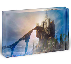 Old castle on the hill Acrylic Block - Canvas Art Rocks - 1