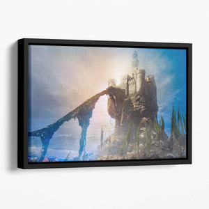 Old castle on the hill Floating Framed Canvas