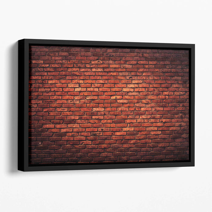 Old grunge brick Floating Framed Canvas