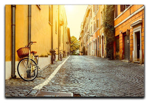 Old street in Rome Canvas Print or Poster  - Canvas Art Rocks - 1
