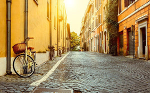 Old street in Rome Wall Mural Wallpaper - Canvas Art Rocks - 1