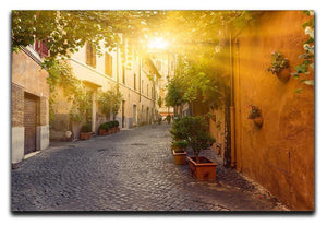 Old street in Trastevere Canvas Print or Poster  - Canvas Art Rocks - 1