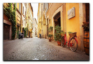 Old streets in Trastevere Canvas Print or Poster  - Canvas Art Rocks - 1