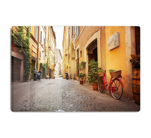 Old streets in Trastevere HD Metal Print