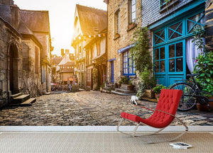 Old town in Europe Wall Mural Wallpaper - Canvas Art Rocks - 2