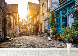 Old town in Europe Wall Mural Wallpaper - Canvas Art Rocks - 4