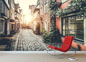 Old town in Europe at sunset Wall Mural Wallpaper - Canvas Art Rocks - 2