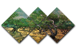 Olive Grove 2 by Van Gogh 4 Square Multi Panel Canvas  - Canvas Art Rocks - 1