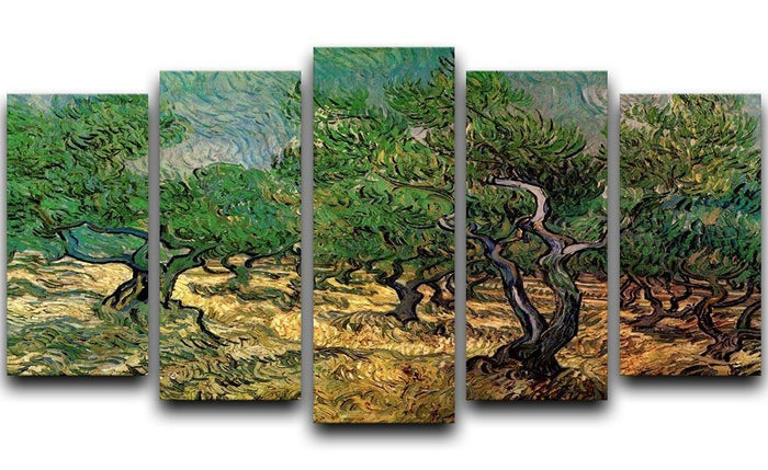 Olive Grove 2 by Van Gogh 5 Split Panel Canvas