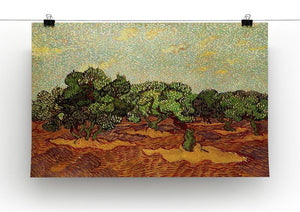 Olive Grove Pale Blue Sky by Van Gogh Canvas Print & Poster - Canvas Art Rocks - 2