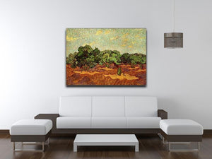 Olive Grove Pale Blue Sky by Van Gogh Canvas Print & Poster - Canvas Art Rocks - 4