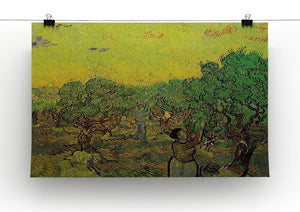 Olive Grove with Picking Figures by Van Gogh Canvas Print & Poster - Canvas Art Rocks - 2