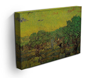 Olive Grove with Picking Figures by Van Gogh Canvas Print & Poster - Canvas Art Rocks - 3