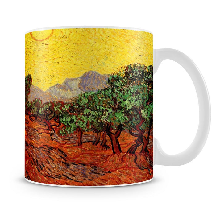 Olive Trees with Yellow Sky and Sun by Van Gogh Mug