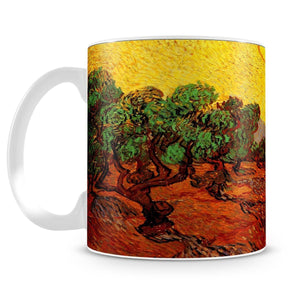 Olive Trees with Yellow Sky and Sun by Van Gogh Mug - Canvas Art Rocks - 4