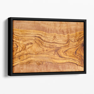 Olive tree wood slice Floating Framed Canvas - Canvas Art Rocks - 1