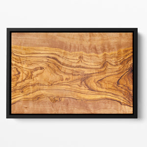 Olive tree wood slice Floating Framed Canvas - Canvas Art Rocks - 2