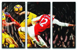 Olivier Giroud Scorpion Kick 3 Split Panel Canvas Print - Canvas Art Rocks - 1
