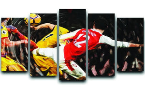Olivier Giroud Scorpion Kick 5 Split Panel Canvas  - Canvas Art Rocks - 1