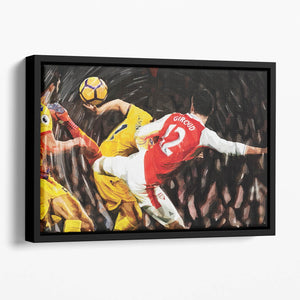 Olivier Giroud Scorpion Kick Floating Framed Canvas