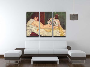 Olympia 1 by Manet 3 Split Panel Canvas Print - Canvas Art Rocks - 3