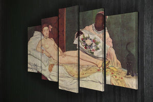 Olympia 1 by Manet 5 Split Panel Canvas - Canvas Art Rocks - 2