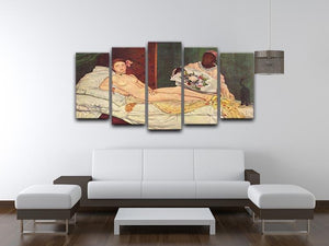 Olympia 1 by Manet 5 Split Panel Canvas - Canvas Art Rocks - 3