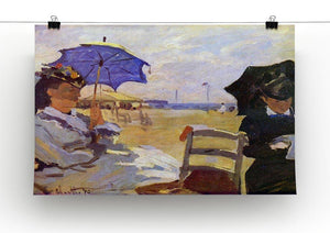 On the beach at Trouville by Monet Canvas Print & Poster - Canvas Art Rocks - 2