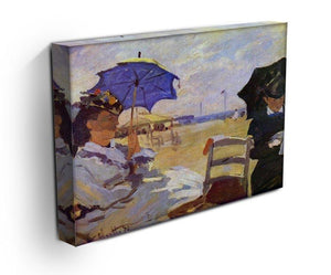 On the beach at Trouville by Monet Canvas Print & Poster - Canvas Art Rocks - 3
