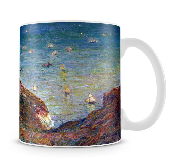 On the cliffs of Pour Ville Fine weather by Monet Mug