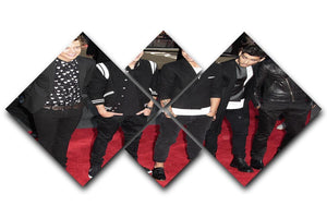 One Direction on the red carpet 4 Square Multi Panel Canvas  - Canvas Art Rocks - 1