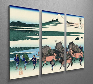 Ono Shindon in the Suraga province by Hokusai 3 Split Panel Canvas Print - Canvas Art Rocks - 2