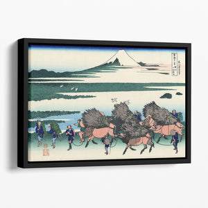 Ono Shindon in the Suraga province by Hokusai Floating Framed Canvas