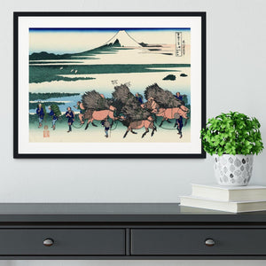 Ono Shindon in the Suraga province by Hokusai Framed Print - Canvas Art Rocks - 1