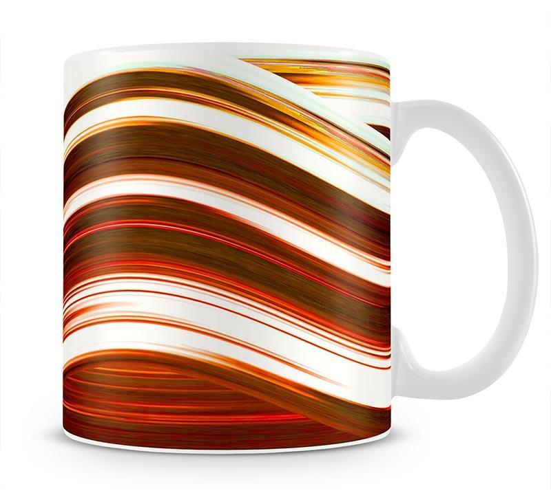 Orange Wave Mug - Canvas Art Rocks - 1