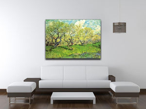 Orchard in Blossom 2 by Van Gogh Canvas Print & Poster - Canvas Art Rocks - 4
