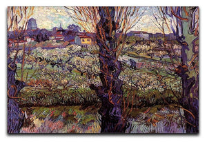 Orchard in Blossom with View of Arles by Van Gogh Canvas Print & Poster  - Canvas Art Rocks - 1