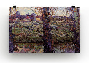 Orchard in Blossom with View of Arles by Van Gogh Canvas Print & Poster - Canvas Art Rocks - 2