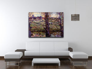Orchard in Blossom with View of Arles by Van Gogh Canvas Print & Poster - Canvas Art Rocks - 4