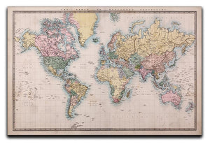 Original old hand coloured map Canvas Print or Poster  - Canvas Art Rocks - 1